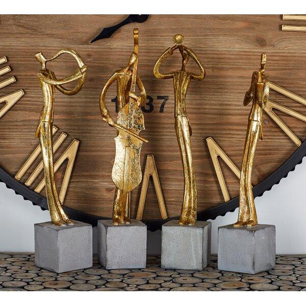 Polystone Musician 4 Piece Figurine Set by Cole & Grey