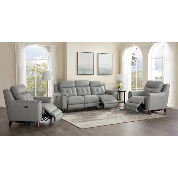 Tortuga Power 3 Piece Leather Reclining Living Room Set by Wrought Studio Wrought Studio