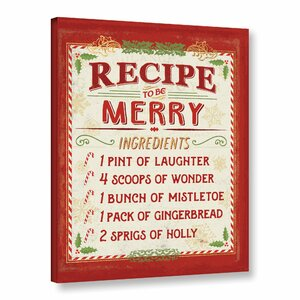 'Holiday Recipe IV' by Studio Pela Textual Art on Wrapped Canvas by ArtWall