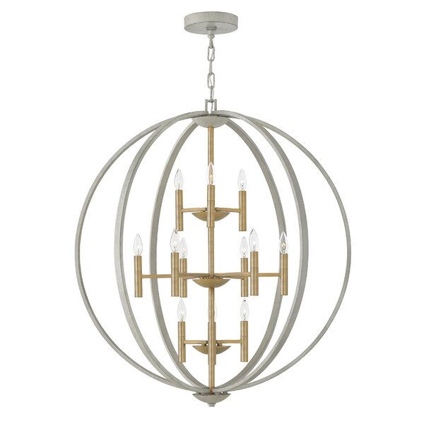Kieran 12-Light Candle Style Globe Chandelier by Willa Arlo Interiors Willa Arlo Interiors