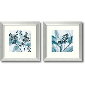 'Eucalyptus' 2 Piece Framed Photographic Print Set by Andover Mills