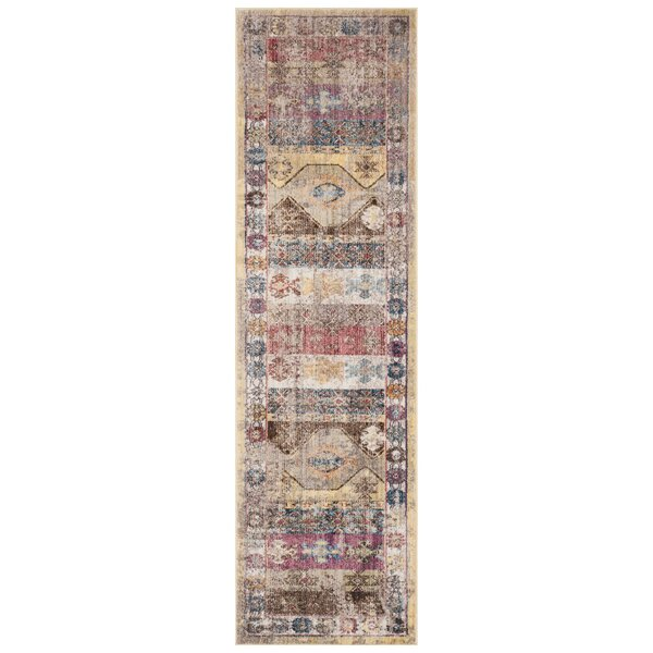 Skye Brown/Pink Area Rug by World Menagerie