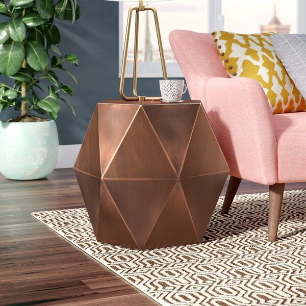 Diamond Drum End Table By Foundstone