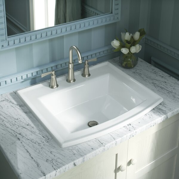 Archer Vitreous China Rectangular Drop-In Bathroom Sink with Overflow by Kohler