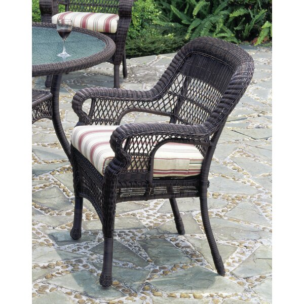 Montego Bay Patio Dining Chair with Cushion by South Sea Rattan