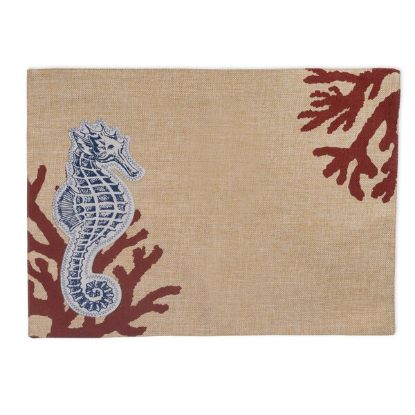 Seahorse Cloth Placemat (Set of 4) by Boston International