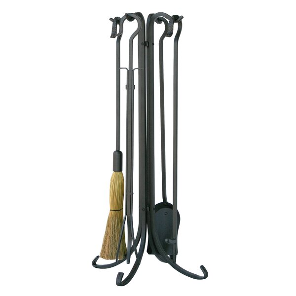 5 Piece Olde World Iron Fireplace Tool Set By Uniflame