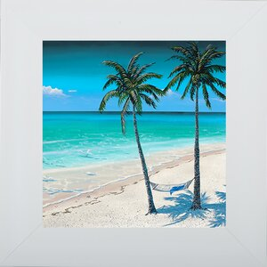 'Beach Palm I' Framed Graphic Art by Pictures and Mirrors
