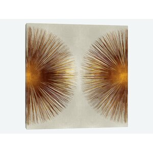 Bronze Sunburst II Graphic Art on Wrapped Canvas by East Urban Home