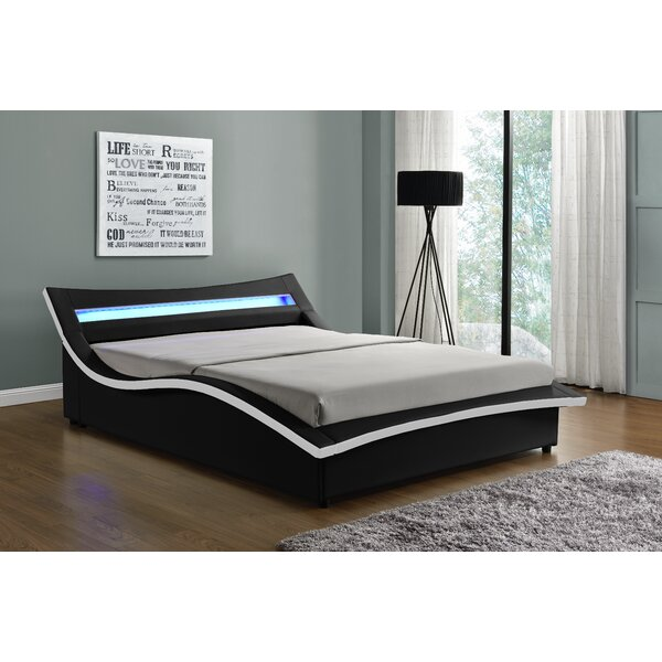 Sabara Upholstered LED Storaege Platform Bed by Orren Ellis