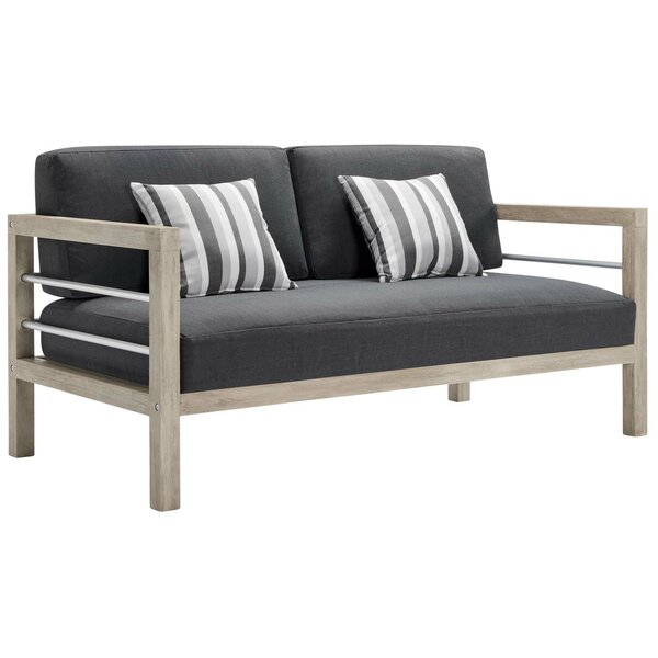 Daenerys Loveseat with Cushions by Longshore Tides