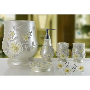 decorative melrose 5 piece bathroom accessory set