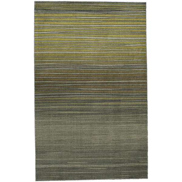 Clement Horizon Line Green Area Rug by Bungalow Rose