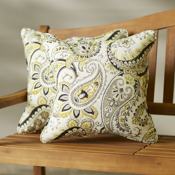 Cribbs Paisley Indoor/Outdoor Lumbar Pillow Set (Set of 2) by Darby Home Co