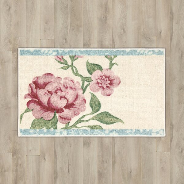 Nathael Beige Floral Area Rug by Lark Manor