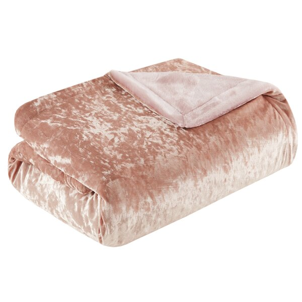 Best Crushed Velvet Throw by House of Hampton