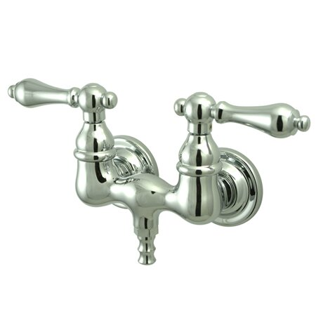 Vintage Tow Handle Wall Mount Clawfoot Tub Faucet by Kingston Brass