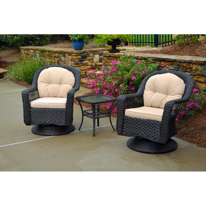 August Grove Griswold 3 Piece Conversation Set with Cushions