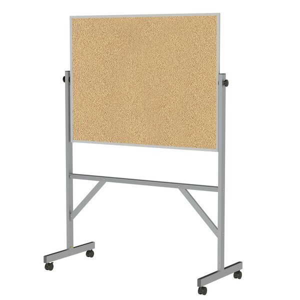 Ghent Reversible Cork Bulletin Board with Aluminum Frame by Ghent