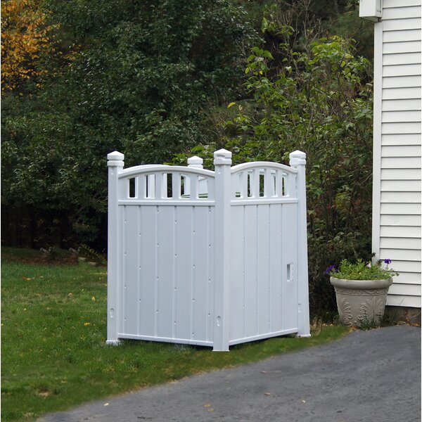 Outdoor Storage 3 ft. 4.5 in. W x 3 ft. 7.5 in. D Vinyl Garbage Shed by RubbishWrap