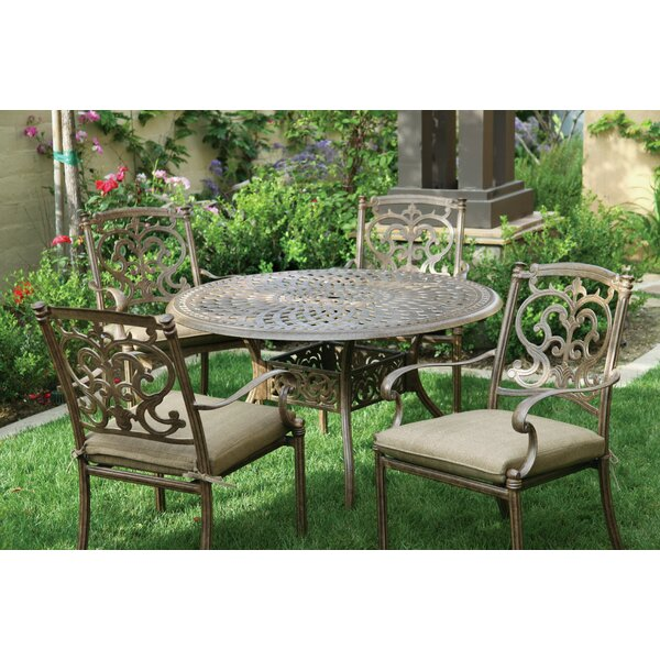 Palazzo Sasso 5 Piece Metal Frame Dining Set with Cushions by Astoria Grand