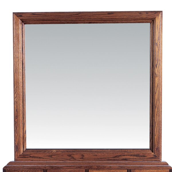 Torin Plain Square Dresser Mirror by Millwood Pines