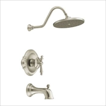 Waterhill Moentrol Tub & Shower System in Brushed Nickel with Posi-Temp by Moen