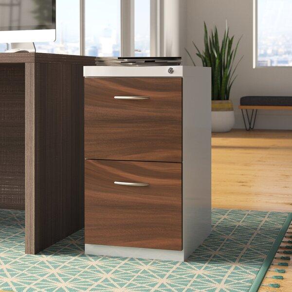 Ziegler Deep Pedestal 2-Drawer Mobile Vertical Filing Cabinet