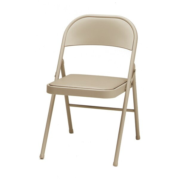 Single Vinyl Padded Folding Chair (Set of 4) by MECO Corporation