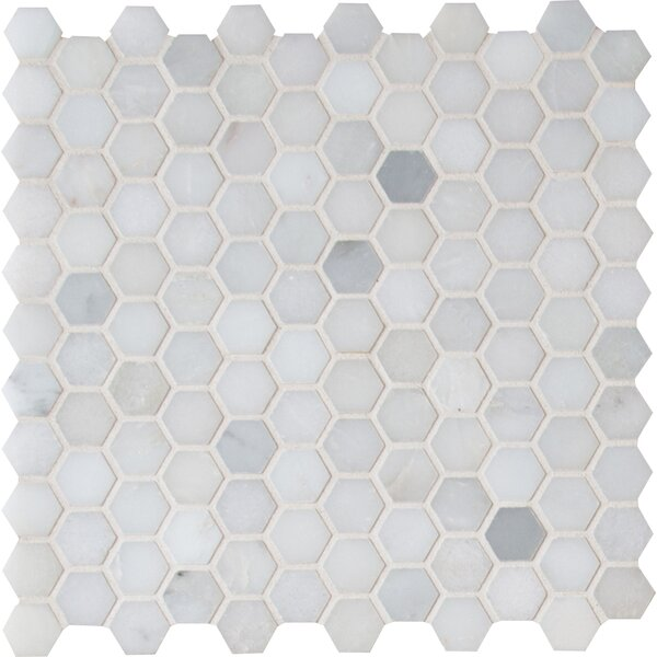 Greecian White 1 x 1 Marble Tile in White by MSI