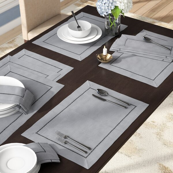 Rochester 12 Piece Placemat Set (Set of 12) by And