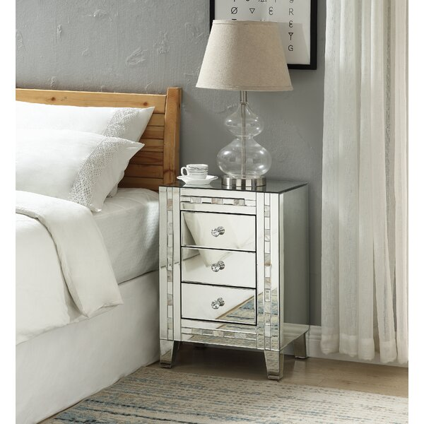 Dearborn 3 Drawer Nightstand by House of Hampton