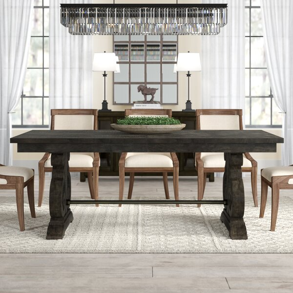Best #1 Ellenton Solid Wood Dining Table By Greyleigh No Copoun