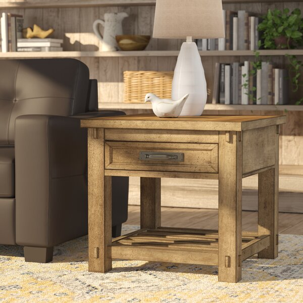 Woen End Table by August Grove