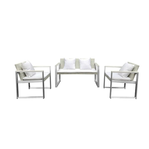 Leal 4 Piece Rattan Sofa Seating Group with Cushions by Orren Ellis