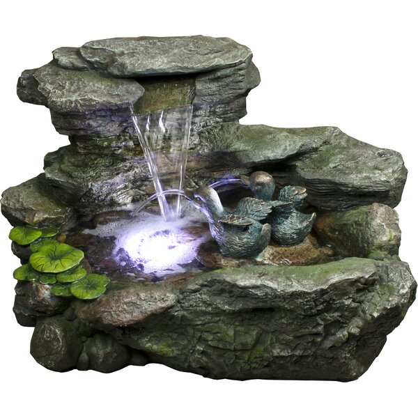 Gainesville Polystone Fountain with LED Light by Bond Manufacturing