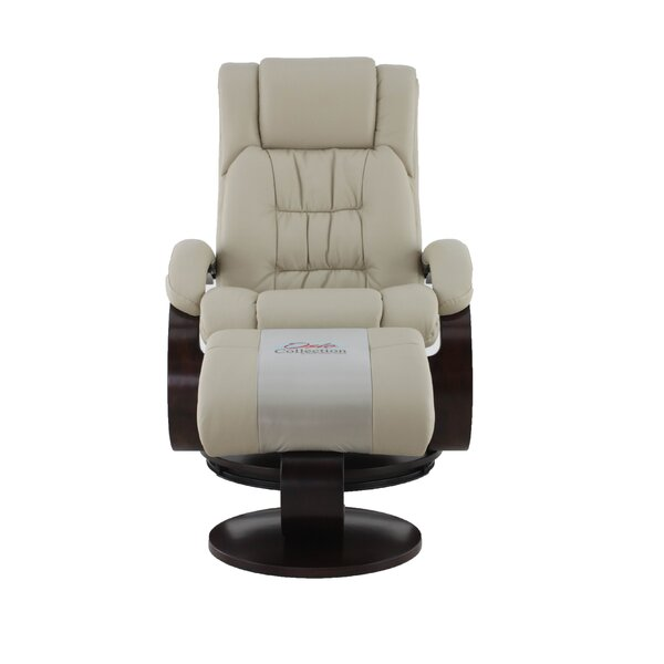 Flathead Lake Manual Swivel Recliner with Ottoman [Red Barrel Studio]