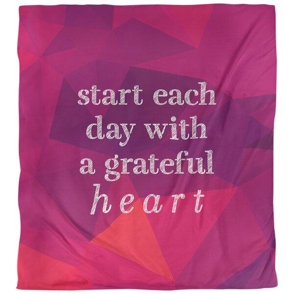 Gratitude Inspirational Quote Single Duvet Cover