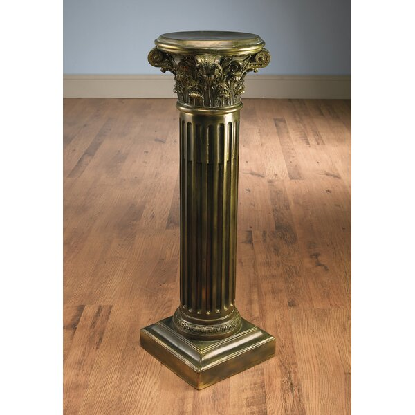 Stgermain Corithian Pedestal Plant Stand by Astoria Grand