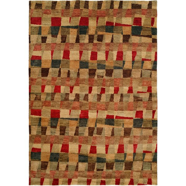 Manama Hand-Knotted Red/Brown Area Rug by Wildon Home ®