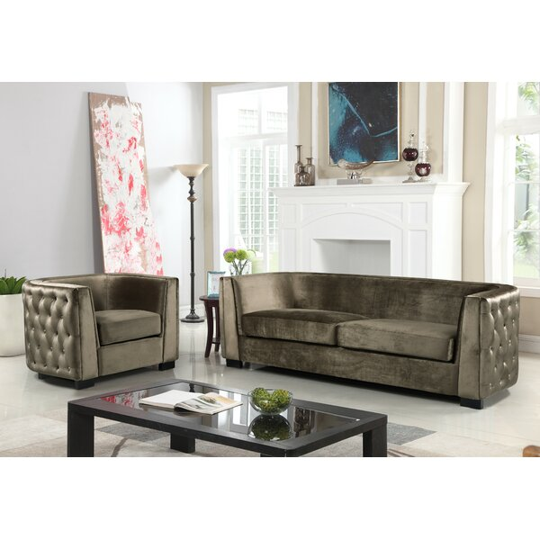Orben Button-Tufted Curved Shelter Arm Standard Configurable Living Room Set by Rosdorf Park
