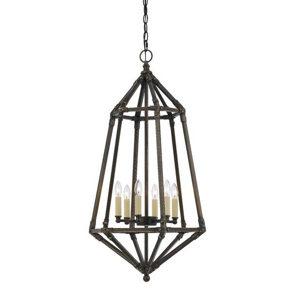 Kortright 6 - Light Lantern Geometric Chandelier By Gracie Oaks