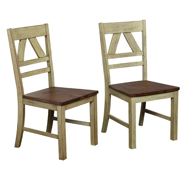 Galena Solid Wood Dining Chair (Set Of 2) By August Grove