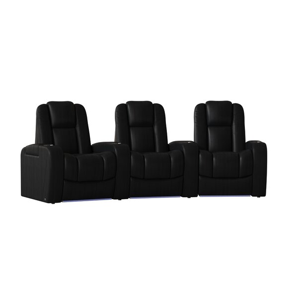 Grand HR Series Curved Home Theater Row Seating (Row Of 3) By Red Barrel Studio