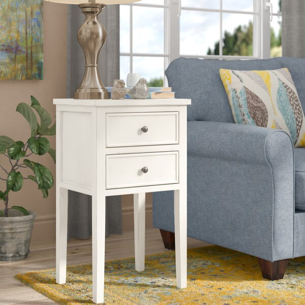 Erion End Table With Storage by August Grove