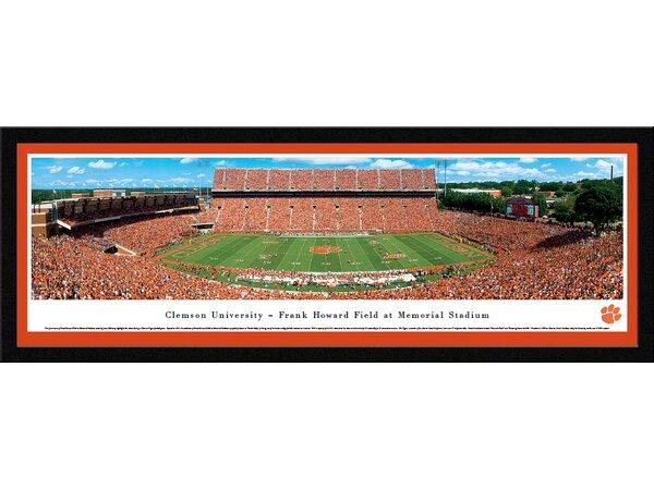 NCAA Clemson University - 50 Yard Line by James Blakeway Framed Photographic Print by Blakeway Worldwide Panoramas, Inc