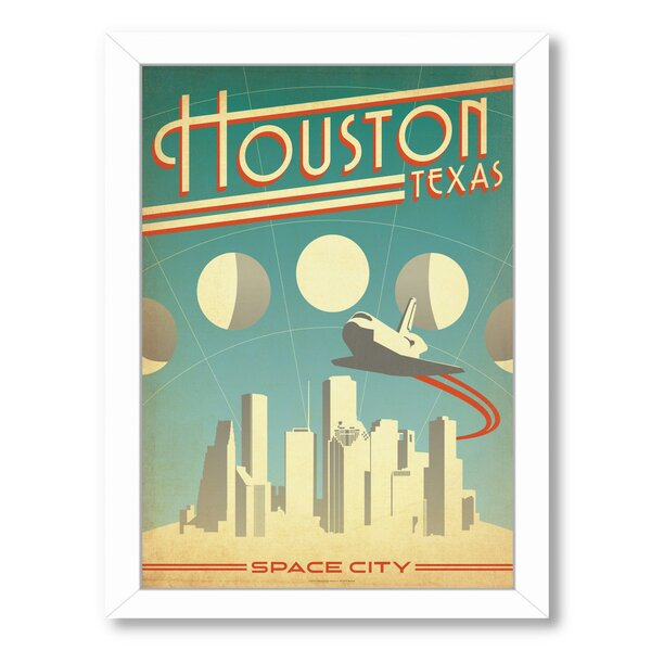 Houston Space City Framed Vintage Advertisement by East Urban Home