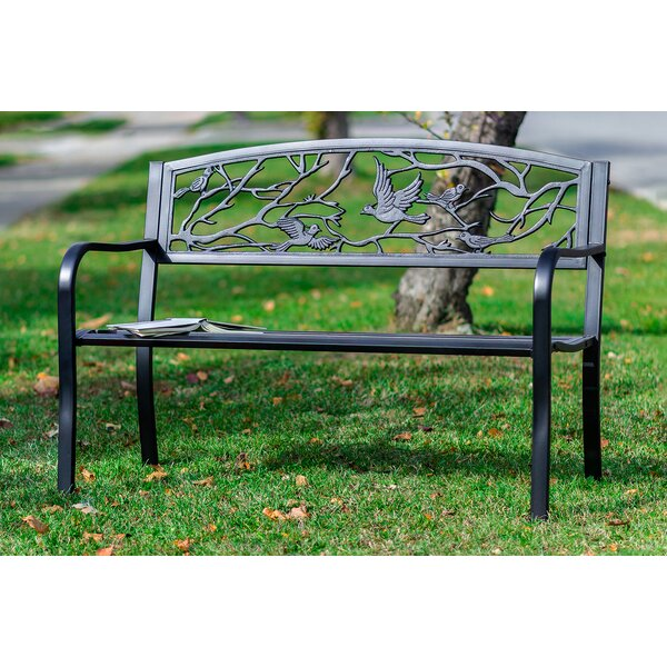 Sharma Birds and Branches Metal Garden Bench by August Grove August Grove