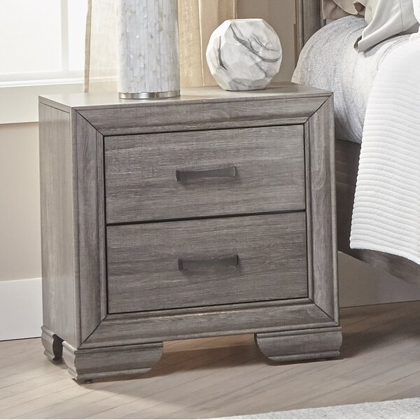 Chicora 2 Drawer Nightstand by Ophelia & Co.