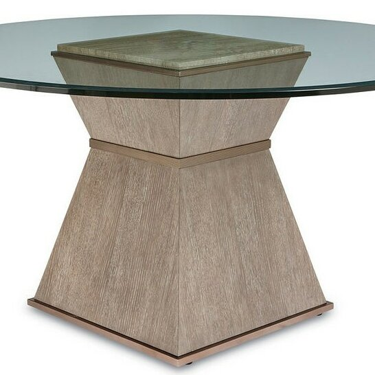 Regine Round Base Dining Table by Everly Quinn
